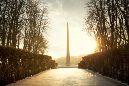 Monument of Eternal Glory at the Tomb of the Unknown Soldier in Kiev, Ukraine Редакционное
