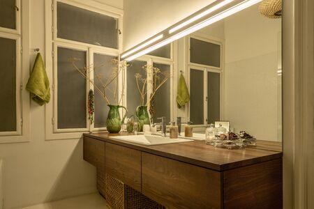 Vintage style bathroom interior Фото со стока
