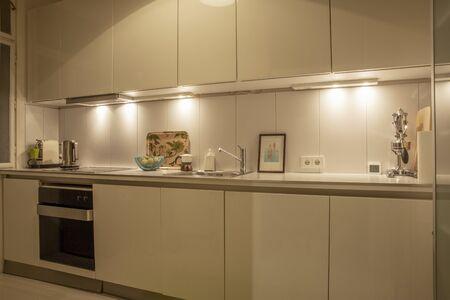 Contemporary style kitchen interior design Фото со стока