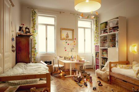 Cozy kids room full of toys
