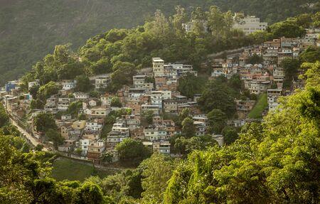 Favela Cosme Velho in Rio de Janeiro city, Brazil