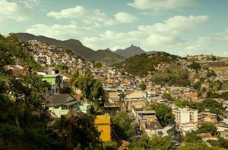 Favela in Rio de Janeiro city, Brazil Фото со стока