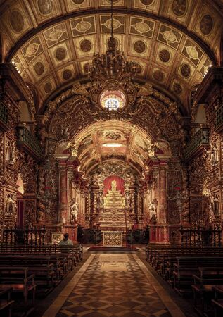 Sao Bento Monastery (Abbey of Our Lady of Montserrat) in Rio de Janeiro, Brazil Фото со стока