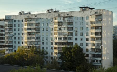 Prefabricated building in Moscow city, Russia