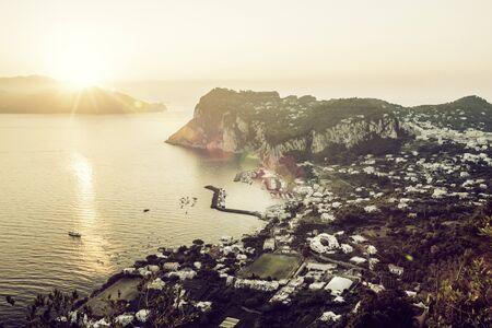 Panorama of Capri island, Italy Фото со стока