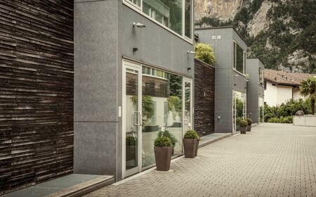 Modern residential buildings in Switzerland