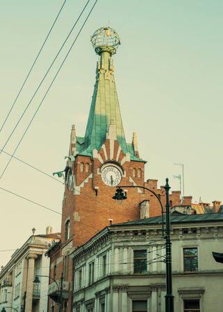 Landmark building of Krakow city, Poland