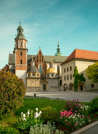 Wawel castle cathedral in Krakow city, Poland