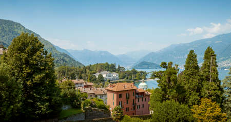 Panorama of Como lake in Lombardy, Italy