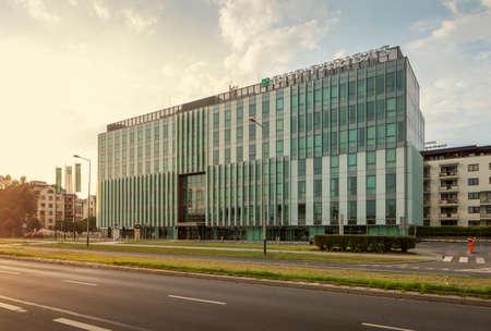 Krakow, Poland - July 17, 2013: office building of BNP Paribas bank in Krakow, Poland