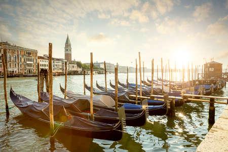 Gondolas in Venice city, Italy