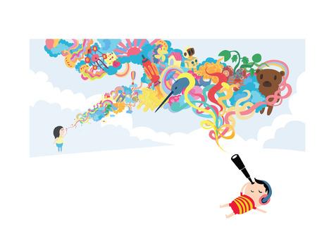 Children s Day Dream Vetores