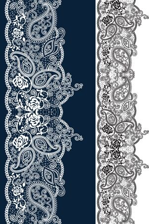 Seamless lace. All elements and textures are individual objects. Vector illustration scale to any size. Foto de archivo