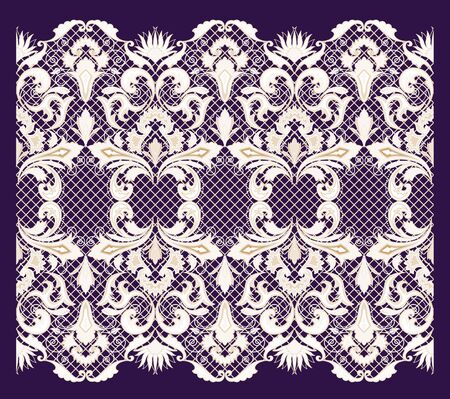 Seamless lace. All elements and textures are individual objects. Vector illustration scale to any size.