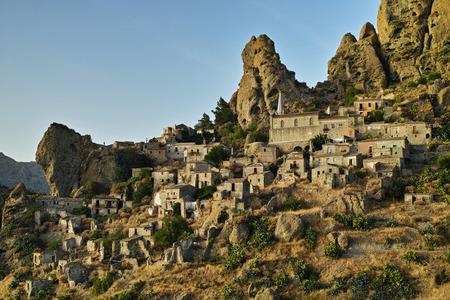 Italian town Pentedattilo