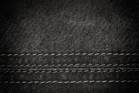 black leather texture: Black leather texture as background, horizontal line