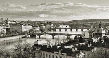 Prague bridges Archivio Fotografico