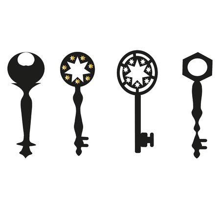 antique keys: Vector original collection of antique keys. Illustration