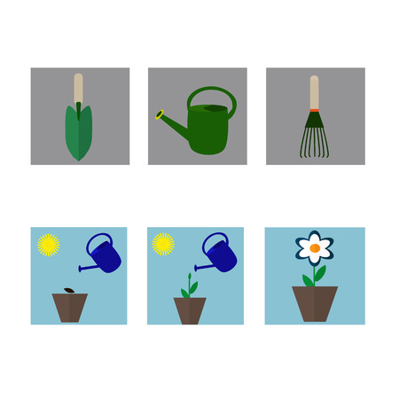 welly: A set of flat icons on gardening.