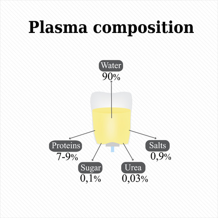 urea: Composition of blood plasma. Infographics. Vector illustration.