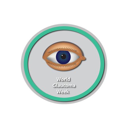 World Glaucoma Week 6 -12 March. Eye. Infographics. illustration on isolated background. Illustration
