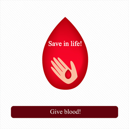 Blood transfusion. Blood donor. Call to donate blood. Vector illustration