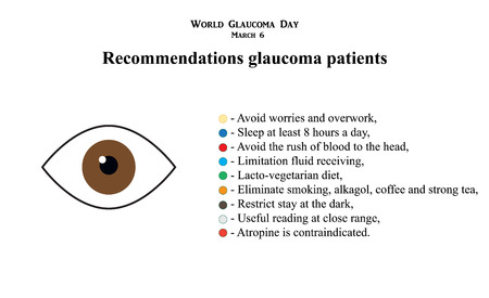 The field of vision in glaucoma infographics. Zdjęcie Seryjne - 71579279