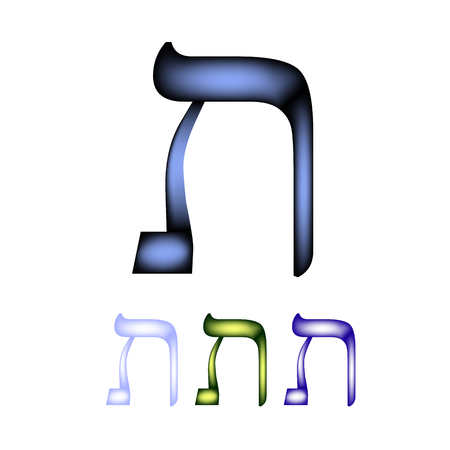 hebrew: Hebrew font language. The letter Tav.