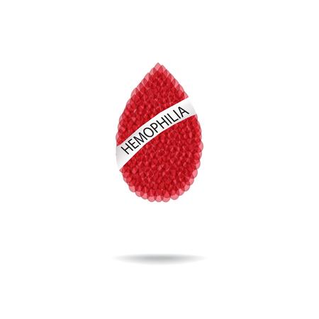hemophilia: Hemophilia. World Hemophilia Day. Red drop of blood. Vector illustration on isolated background.