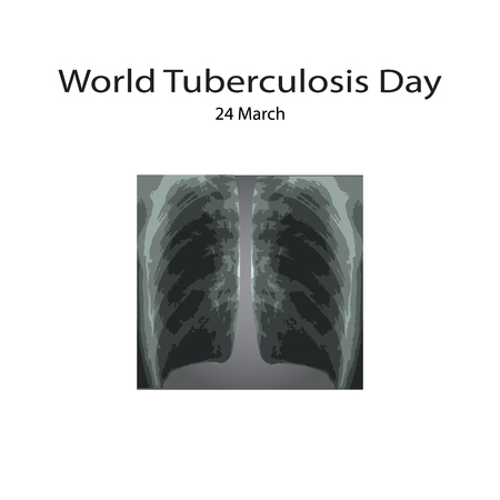 lesion: X-rays of light. Diagnosis of tuberculosis. Infographics. Vector illustration on isolated background.