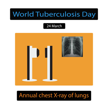 tb: X-rays of light. Diagnosis of tuberculosis. Infographics. Vector illustration on isolated background.
