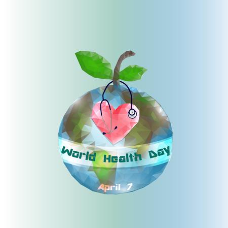 World Health Day. 7 April. Globe Infographics Vector illustration