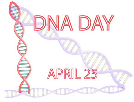 DNA Day. 25th of April. Vector illustration on isolated background.