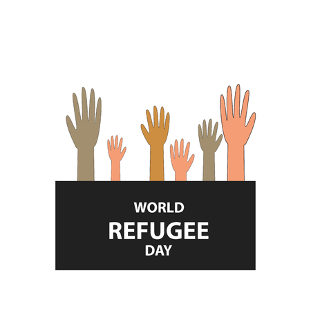 World refugee day. Illustration