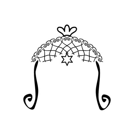 Religious Jewish wedding canopy for illustration. Illustration