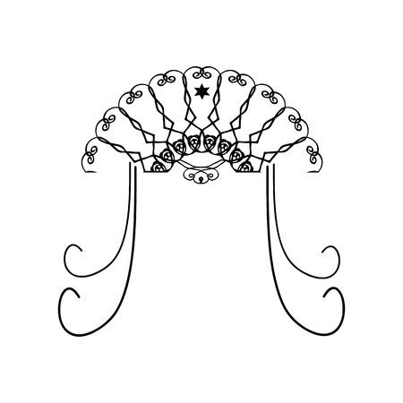Religious Jewish wedding canopy for illustration. Illustration