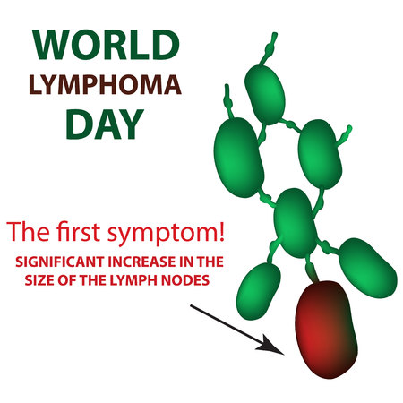 World Lymphoma Day. Increase in the size of the lymph nodes.