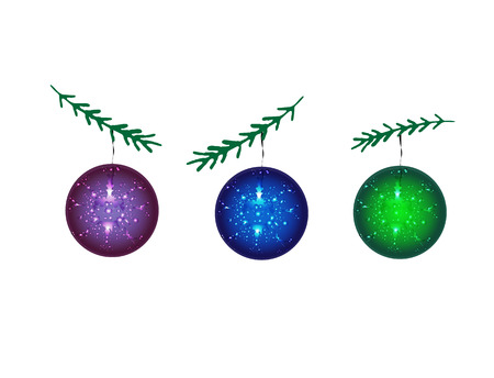 New Year. Balls for the Christmas tree. Vector Illustration. Illustration
