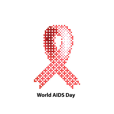 aids awareness ribbon: World AIDS Day. Ribbon red. Vector illustration