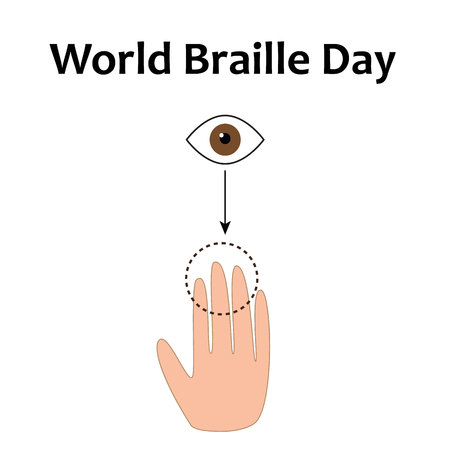 World Braille Day vector illustration