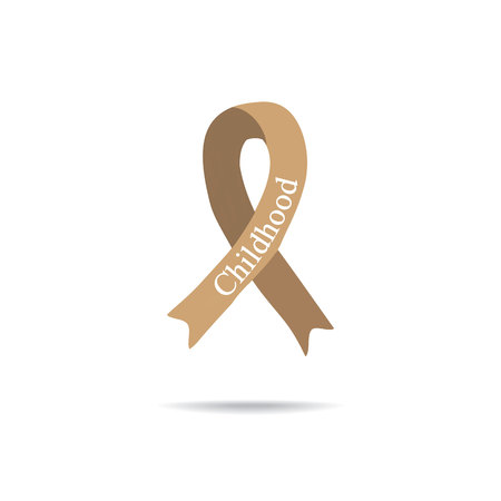 Cancer Ribbon. International Day of cancer. World Cancer Day. International Childhood Cancer Day. Vector illustration on isolated background.