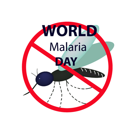 World Malaria Day. Mosquito bans the sign. Infographics. Vector illustration on isolated background Illustration