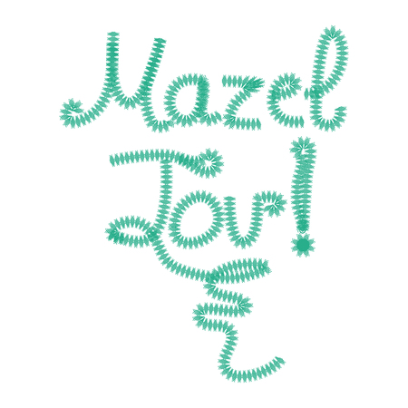 The inscription lettering Mazel Tov Hebrew in translation I wish you happiness. Hand draw, Doodle. Vector illustration on isolated background.