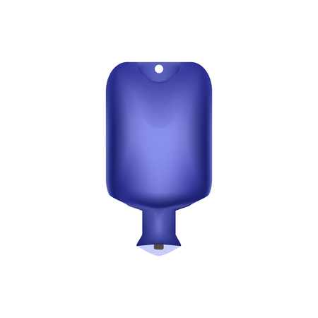 Blue water bottle. Enema. Warmer. Vector illustration on isolated background