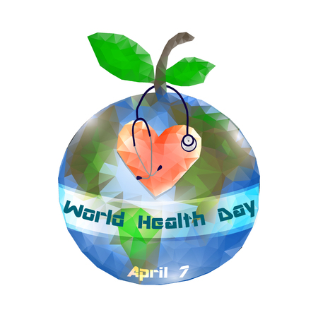 World Health Day. 7 April. Globe. Infographics. Vector illustration on isolated background Stockfoto - 122657011