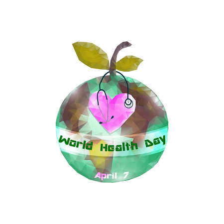 World Health Day. 7 April. Globe. Infographics. Vector illustration on isolated background Stockfoto - 122657013