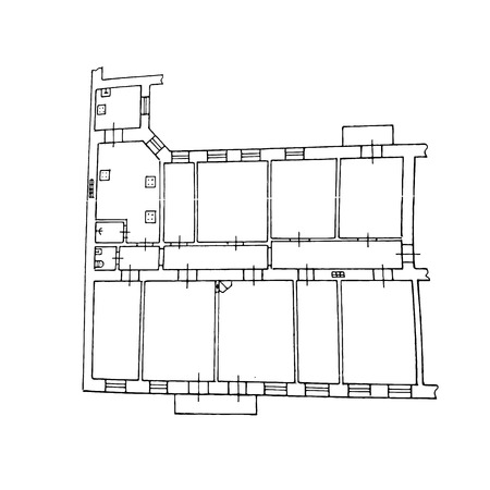 Floor plan. Drawing. Vector illustration on isolated background