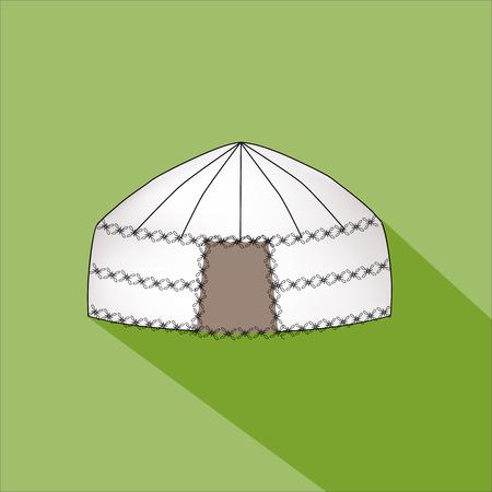 Yurt of nomads. Home house Vector Illustration