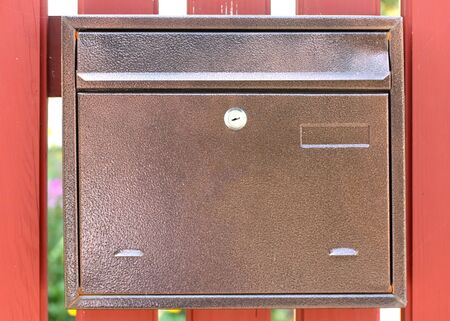 Metal mail box for letters. Lockable mailbox.