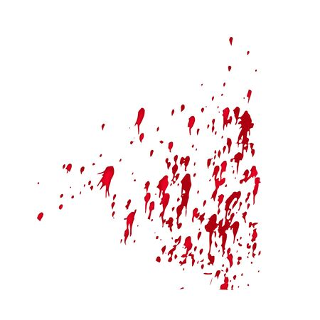 A spot of blood. Stains blood splatter. spray. Vector illustration on isolated background.